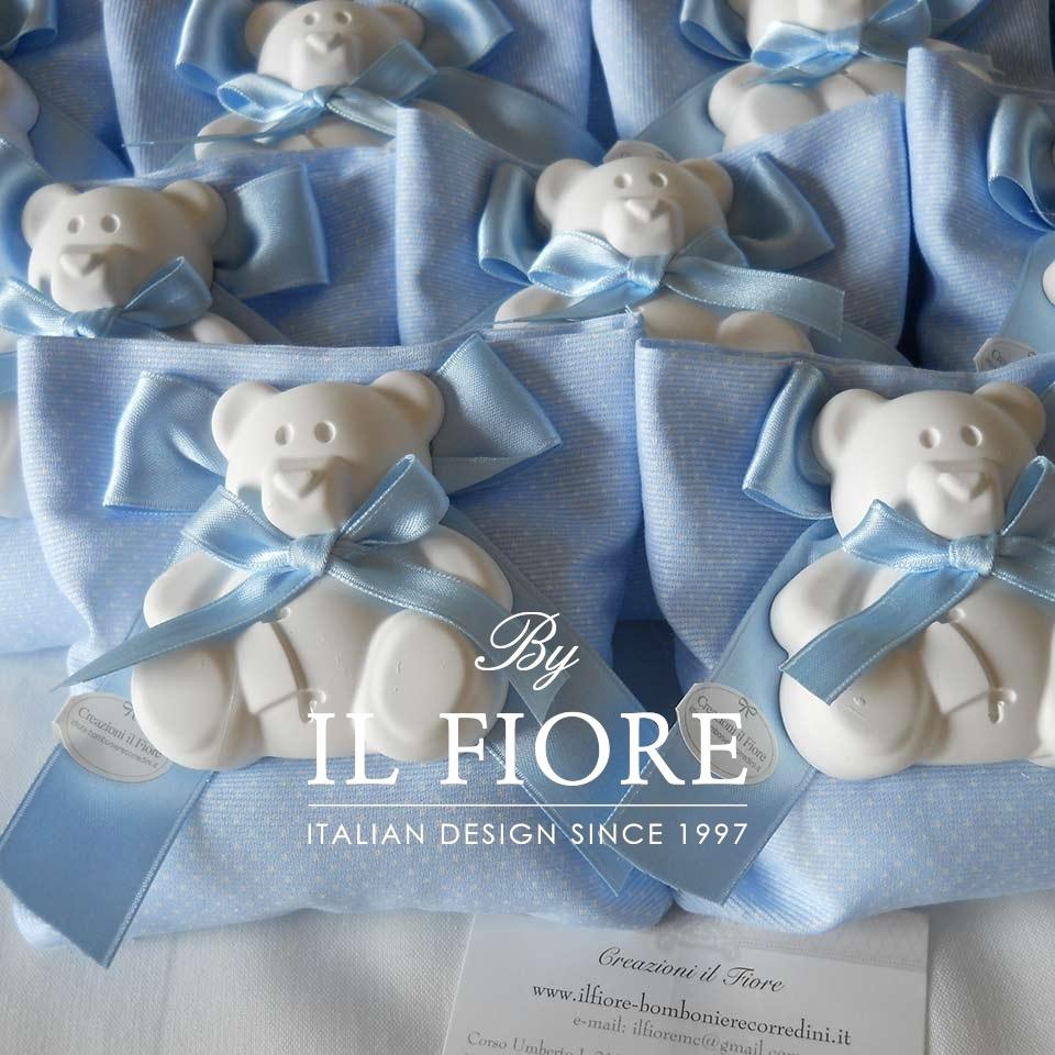 Bomboniera battesimo sacchetto porfaconfetti con orso. thumb cover