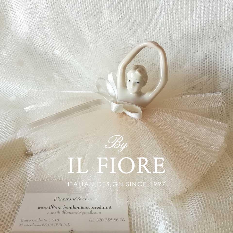 Bomboniere Ballerina in Ceramica con tutù thumb cover