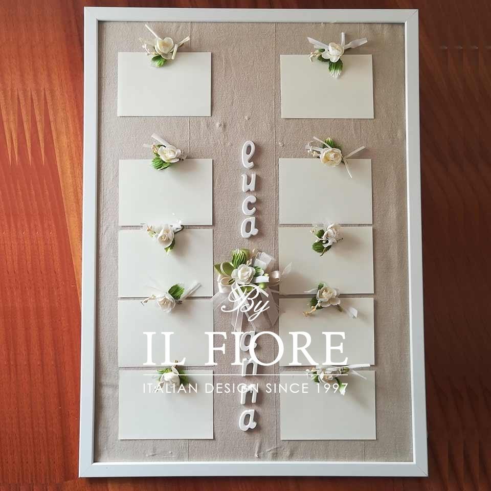 Tableau de Mariage, Cresima Comunione con Nomi e fiori thumb cover