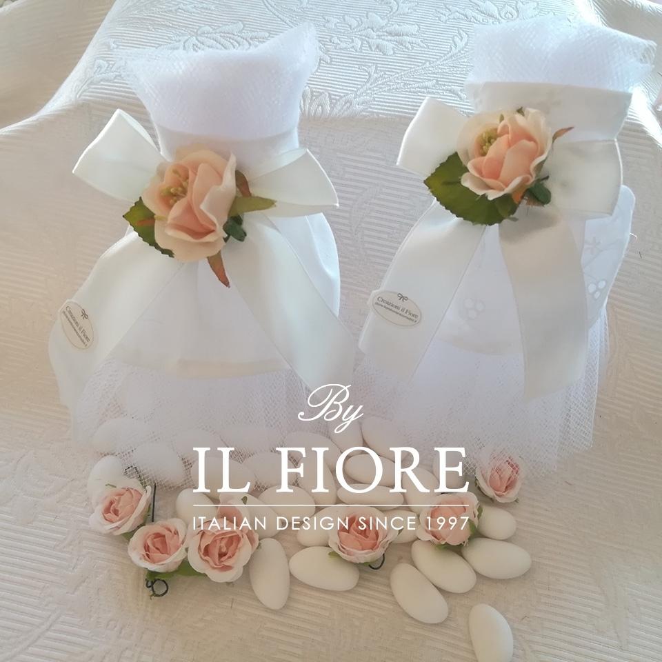 Bomboniera Matrimonio sacchetto portaconfetti vestito sposa. thumb cover
