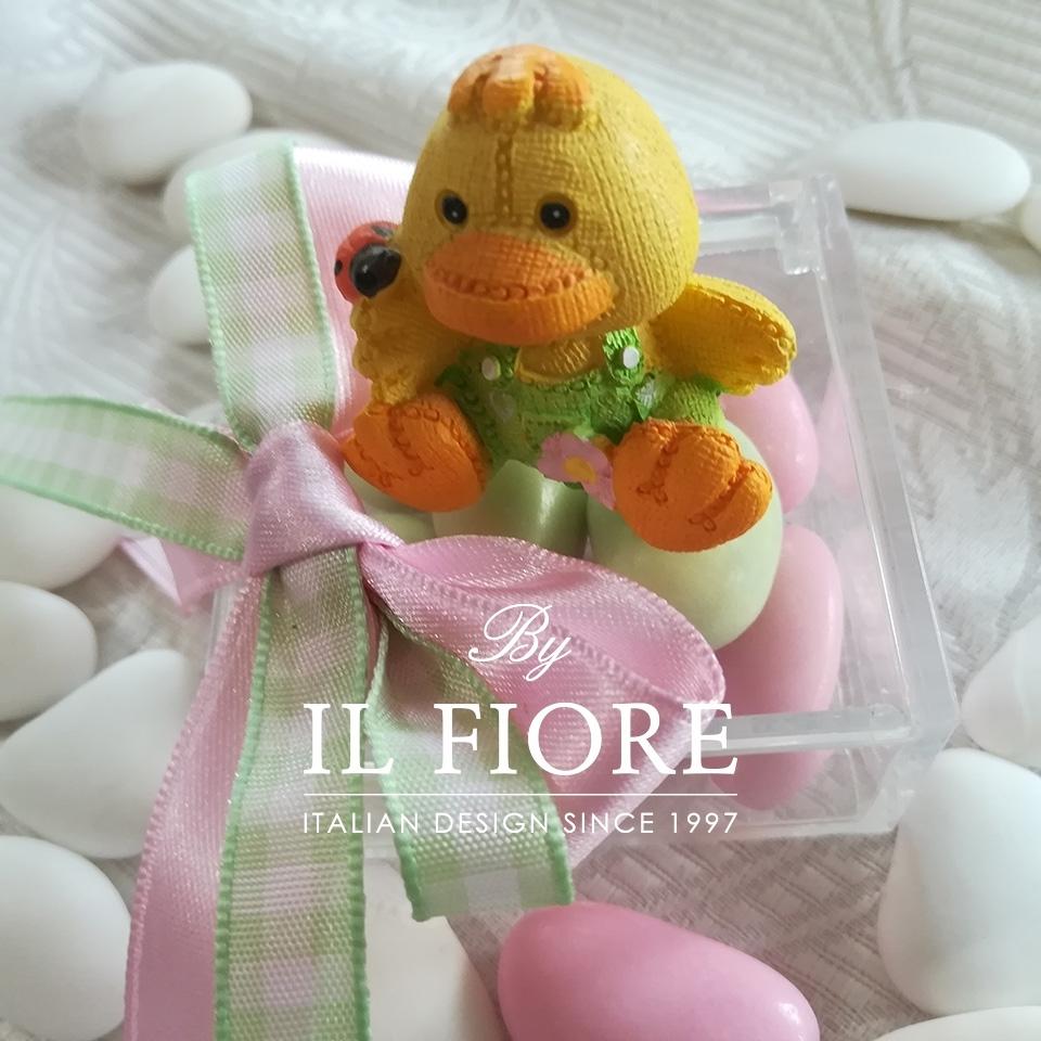Bomboniera Nascita bimba con animaletti colorati thumb cover