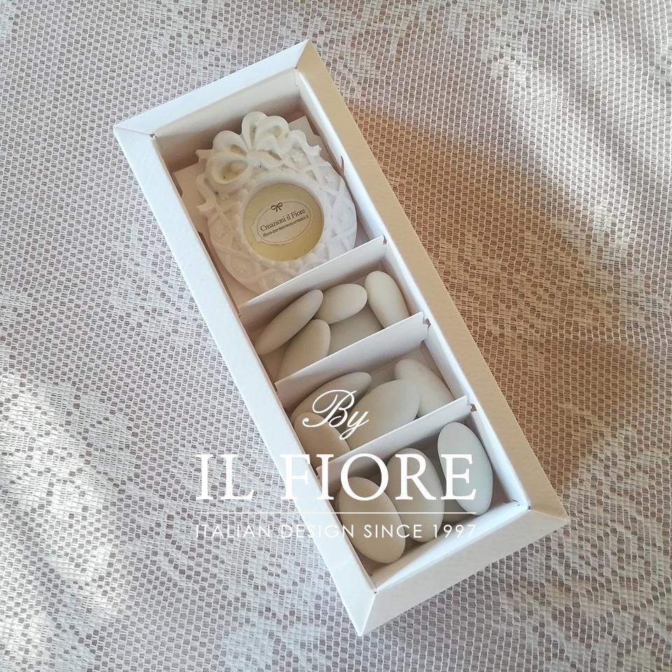 Bomboniera matrimonio scatola portaconfetti con cornice thumb cover