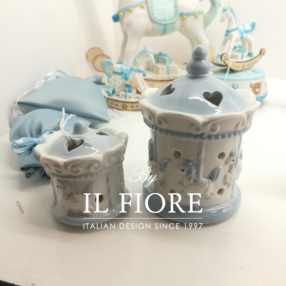 Bomboniera Battesimo giostrina con luce led in Ceramica thumb cover