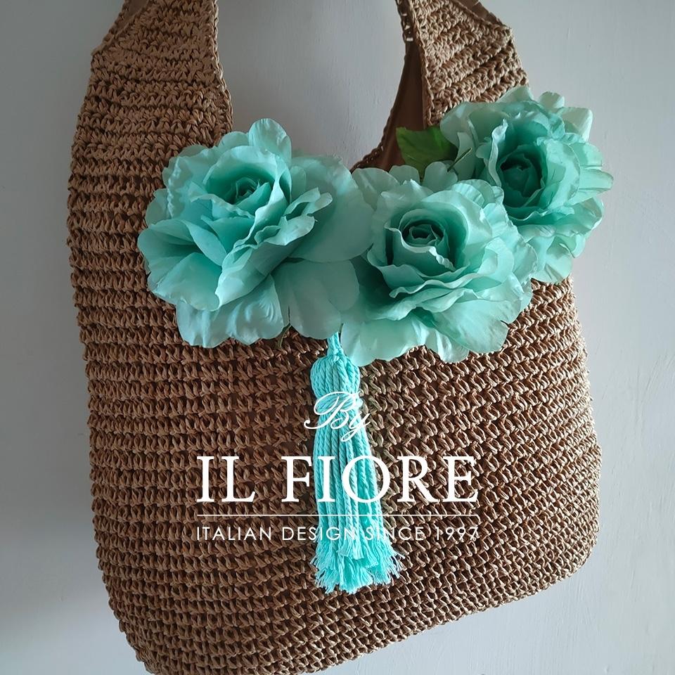 Borse donna a spalla con fiori e nappina Bag donna thumb cover