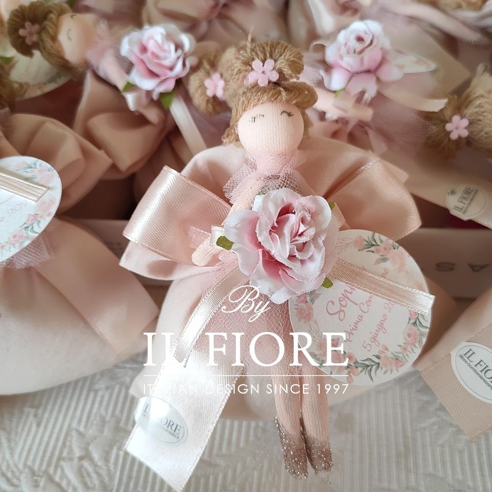 Bomboniere Bambola con Vestito in Tulle e Fiore thumb cover