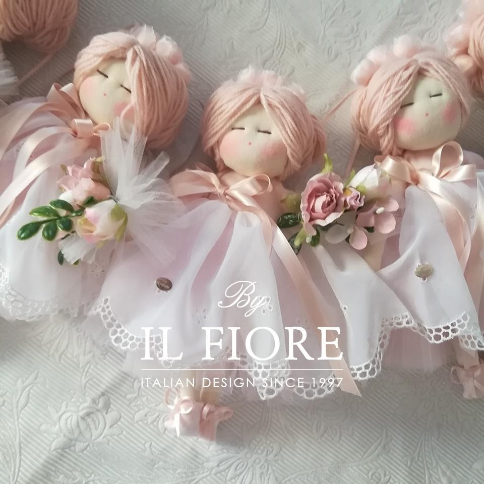 Bomboniera Battesimo bambola con vestito San Gallo thumb cover