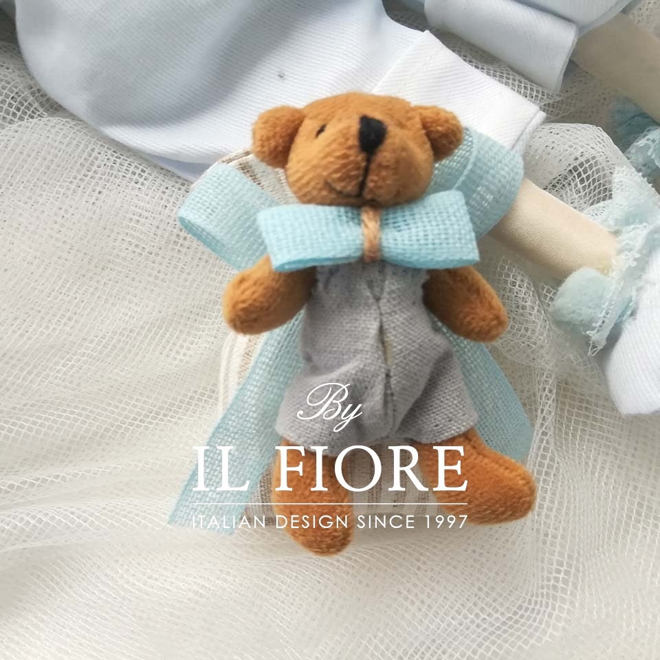 Sacchetto Nido con orso in peluche per bimbo. thumb cover
