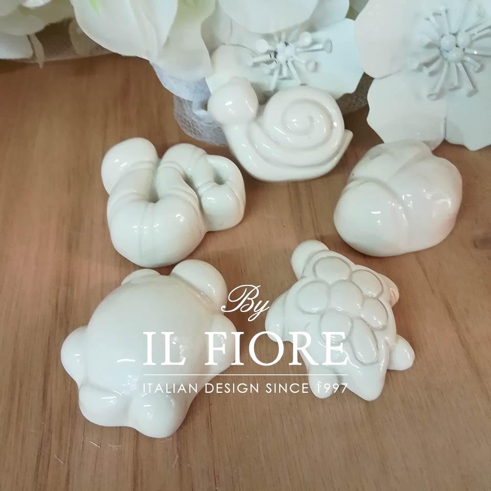 Ceramica - Set calamite animaletti (2)