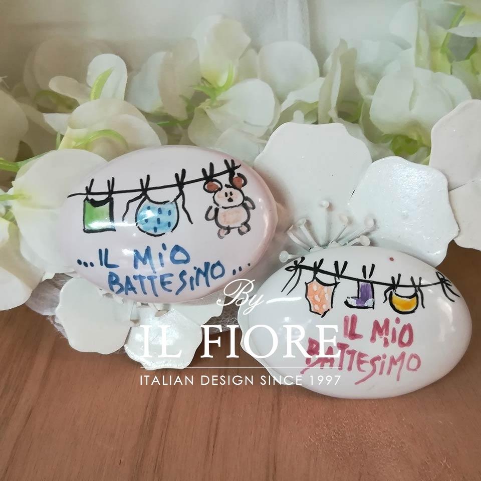 Ceramica - calamita medaglione