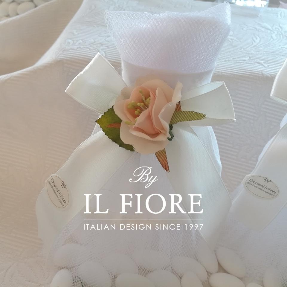 Bomboniera Matrimonio sacchetto portaconfetti vestito sposa. 01320