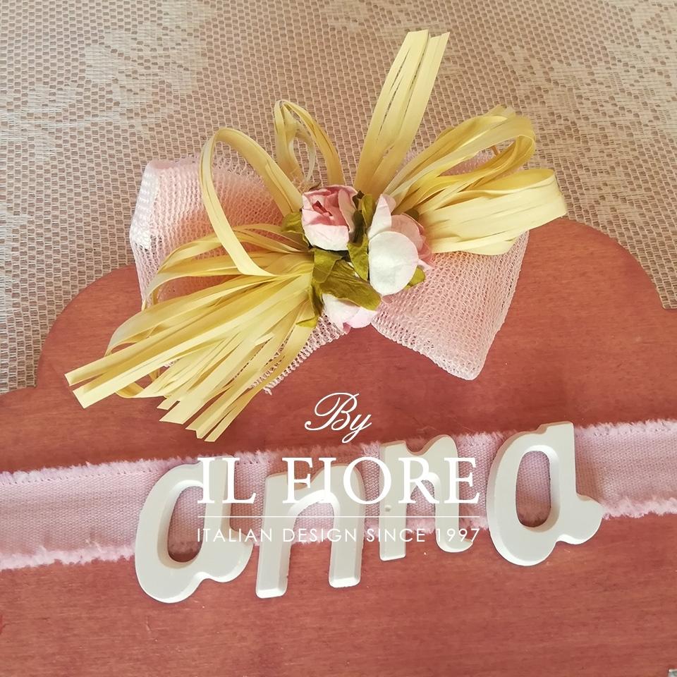 Fiocco nascita Bimba nuvoletta Personalizzabile con nome fuoriporta cameretta 01570