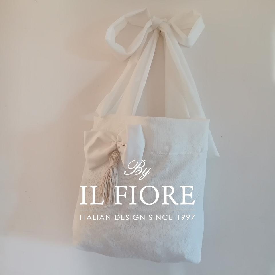 Borse in pizzo con fiocco e nappina Bag pizzo donna 01690