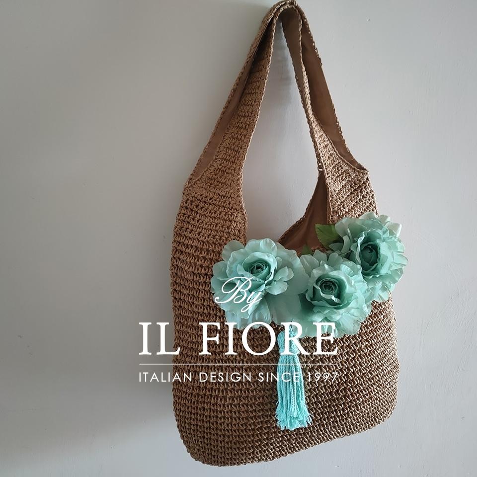 Borse donna a spalla con fiori e nappina Bag donna 010