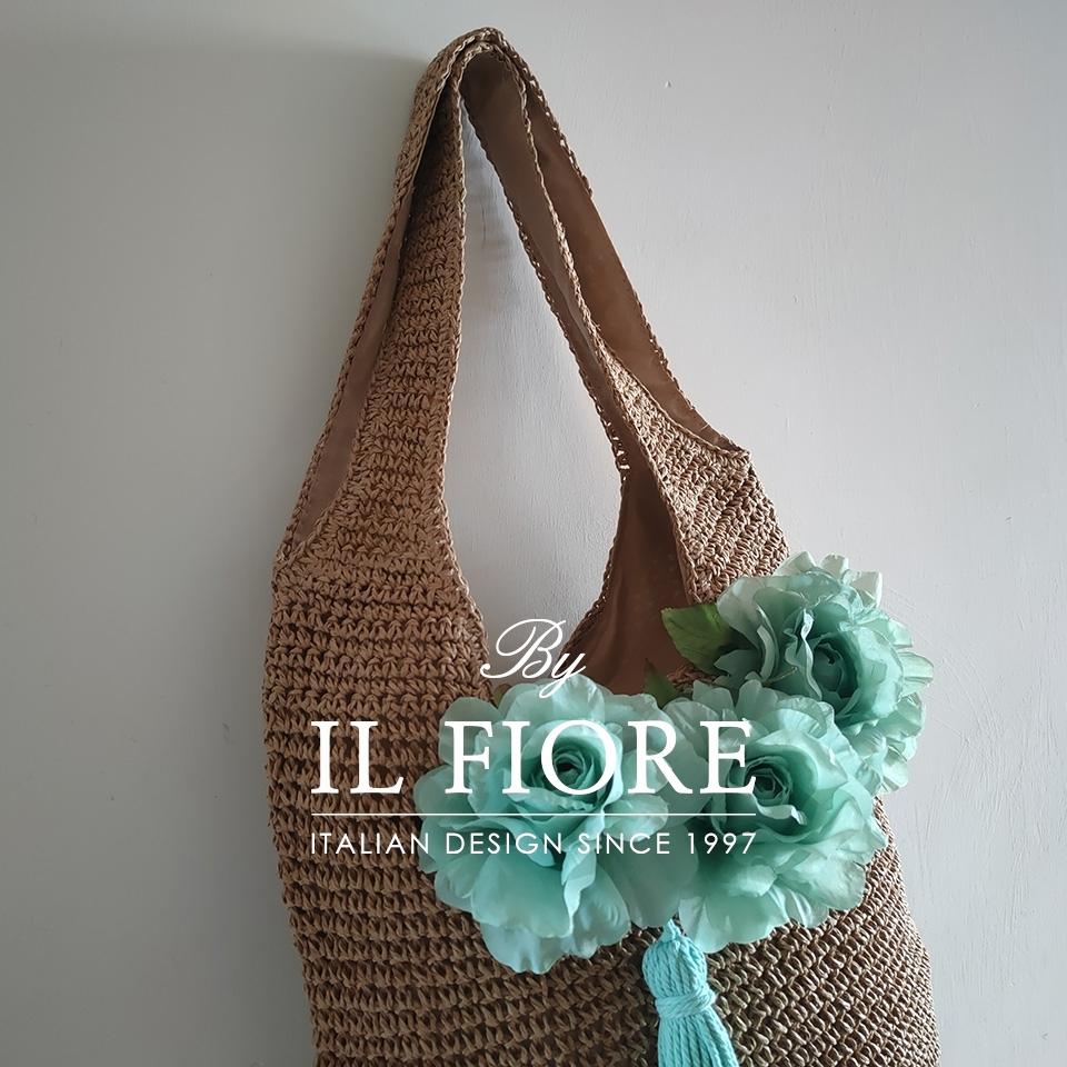 Borse donna a spalla con fiori e nappina Bag donna 01730