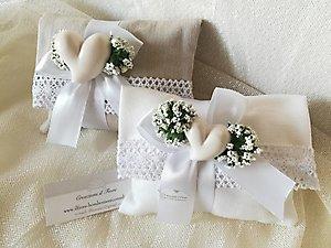 Bomboniera Comunione Cresima matrimonio con cuore in ceramica cod 71R2 - 71R3