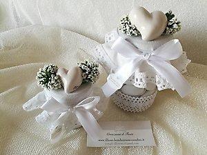 Bomboniera matrimonio enogastronomiche barattolo con confetti cod. 74R - 74R1