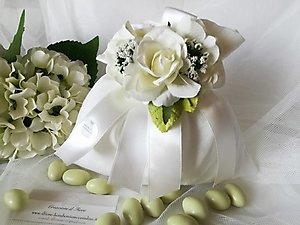 Bomboniera matrimonio comunione e cresima sacchetto confettata cod  59R