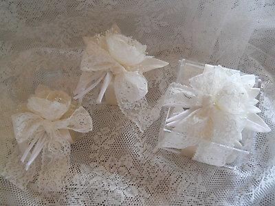 Bomboniera scatola plexiglass con fiore in pizzo 20R - 20R1 - 20R2