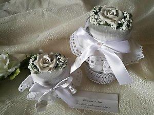 Bomboniera matrimonio enogastronomiche barattolo con confetti cod. 64R - 64R1
