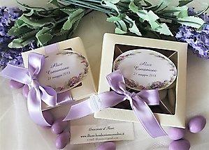 Bomboniera alimentare matrimonio scatole con confettate cioccomandorla cod. 65F