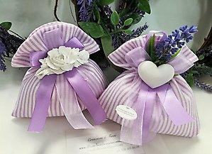 Bomboniera matrimonio con fiore lavanda produzione limitata cod. 12f - 12f1