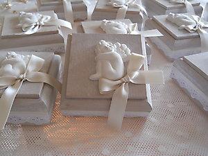 Bomboniera scatola portaconfetti  con angelo Cod. 13Z