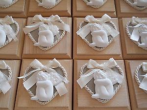 Bomboniera Comunione con angeli e scatola in legno Cod. 15Z