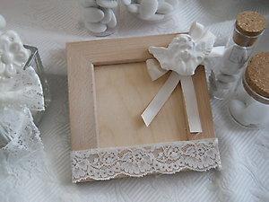Bomboniera matrimonio cresima porta foto in legno Cod. 10Z - 10Z1