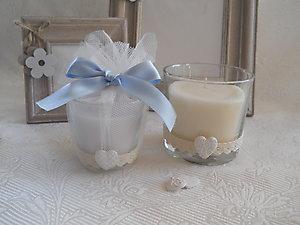 Bomboniera candela per Battesimo cod. 19A - 19A1
