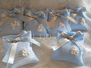 bomboniere battesimo nascita sacchetti con gessetto cod. 20A2 - 20A3