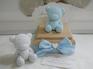 Bomboniera battesimo scatola con orsetto cod. 75A