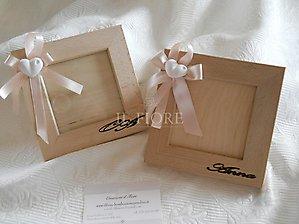 Bomboniera battesimo porta foto in legno con nome o lettera cod 123a -123a1