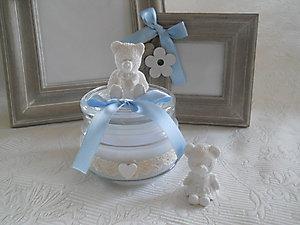 Vasetto con candela e orso anche per femminucce