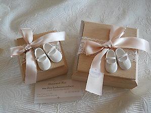 Bomboniera battesimo scatole con scarpette cod. 88B - 88B1