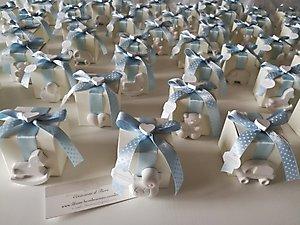 Bomboniera Battesimo nascita scatole con gessetti misti cod. 56B
