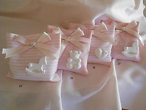 sacchetto bomboniera nascita battesimo con gessetti cod. 4B  5B