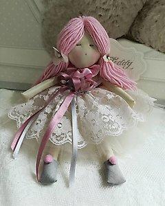 Bambola fatta a mano in pizzo cod. TAF11