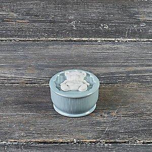 Bomboniera Battesimo cofanetto in porcellana con orsetto cod. 27P