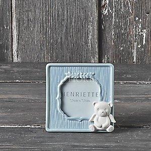 Sacchetto Battesimo  cornice in porcellana con orso cod. 30P