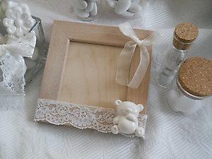 Bomboniera  portafoto con orso in ceramica cod 33P