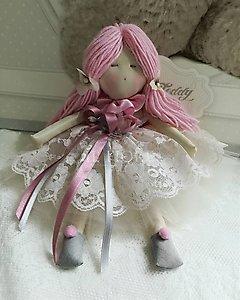 Bambola fatta a mano con vestito in pizzo cod. TAF11