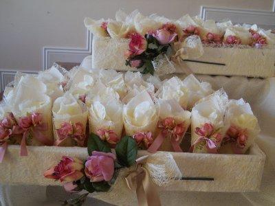 Bomboniere comunione cresima matrimonio Cesto per coni  riso e fiori