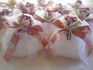 Bomboniere matrimonio comunione cresima  cod. 26H linea fiori matrimonio NOVITA'