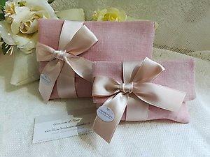 buste in lino  linea  fiori matrimonio - cod. 19H NOVITA' -produzione limitata