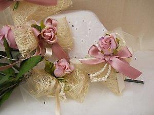 Bomboniera ciuffetti con fiore cod. 20H - 20H1 Linea fiori matrimonio
