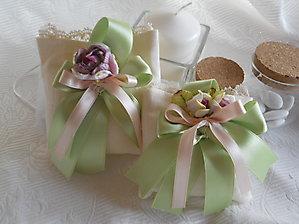 Bomboniere cresima matrimonio comunione sacchetto con merletto nastri e fiore - cod. 31H  32H NOVITA'