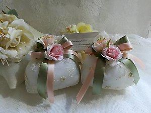 sacchetto in pizzo matrimonio - comunione cod.14H -