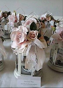 lanterna con fiori matrimonio - comunione - cresima -cod. - 18H NOVITA'