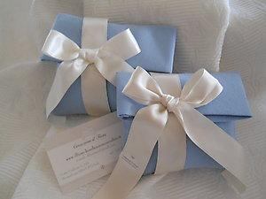 Sacchetto in stile mare azzurro polvere per matrimoni e comunioni cod.  53M