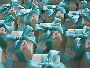 Bomboniera stile marino per matrimonio e comunioni scatola con gessetto profumato personalizzato cod. 26M
